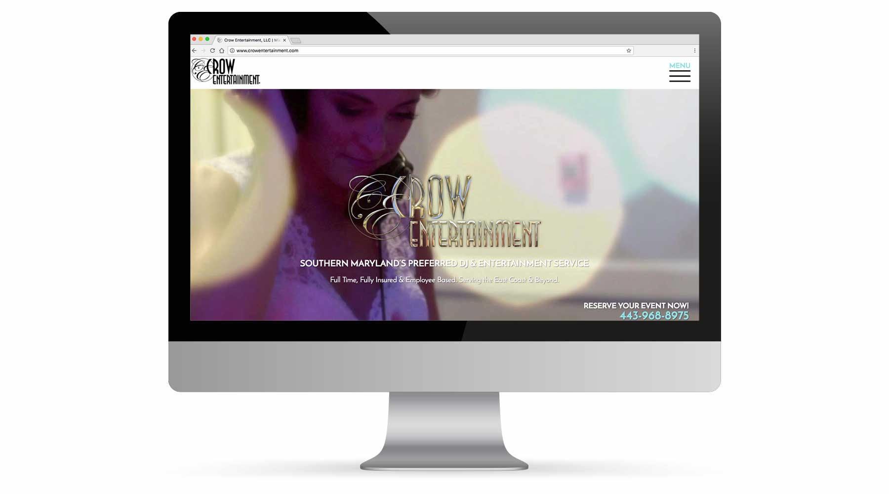 Crow Entertainment Website - Portfolio