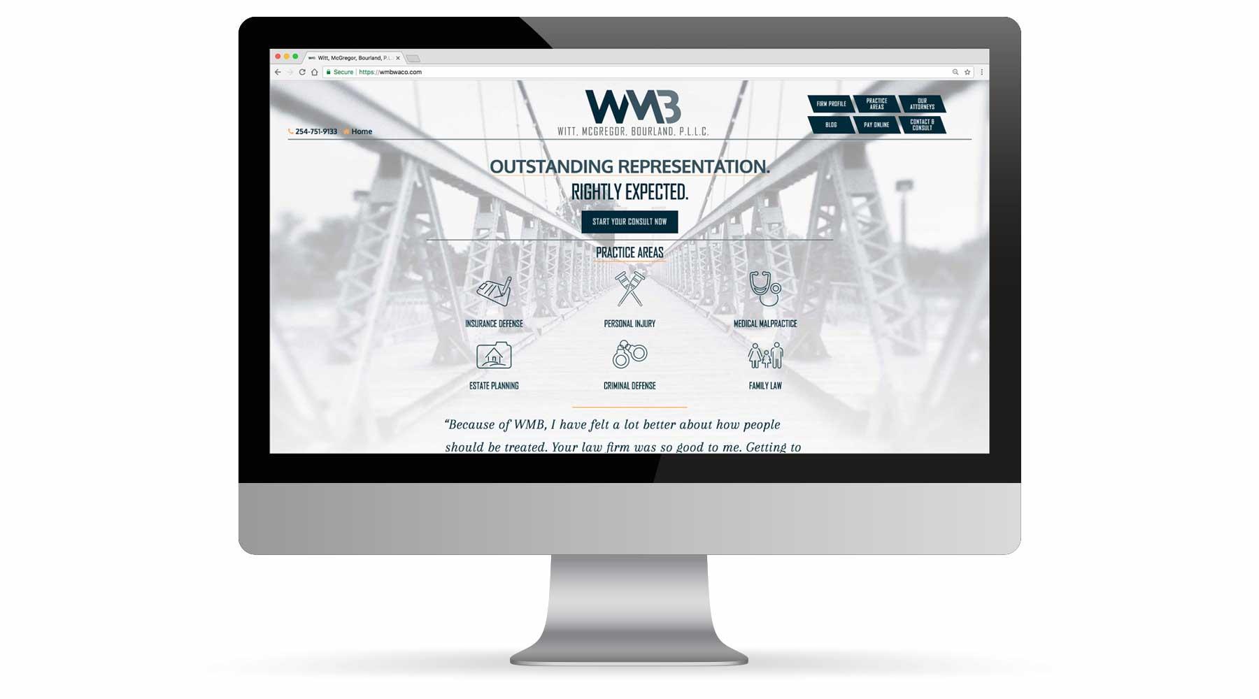 Witt, McGregor, Bourland, PLLC Website Portfolio