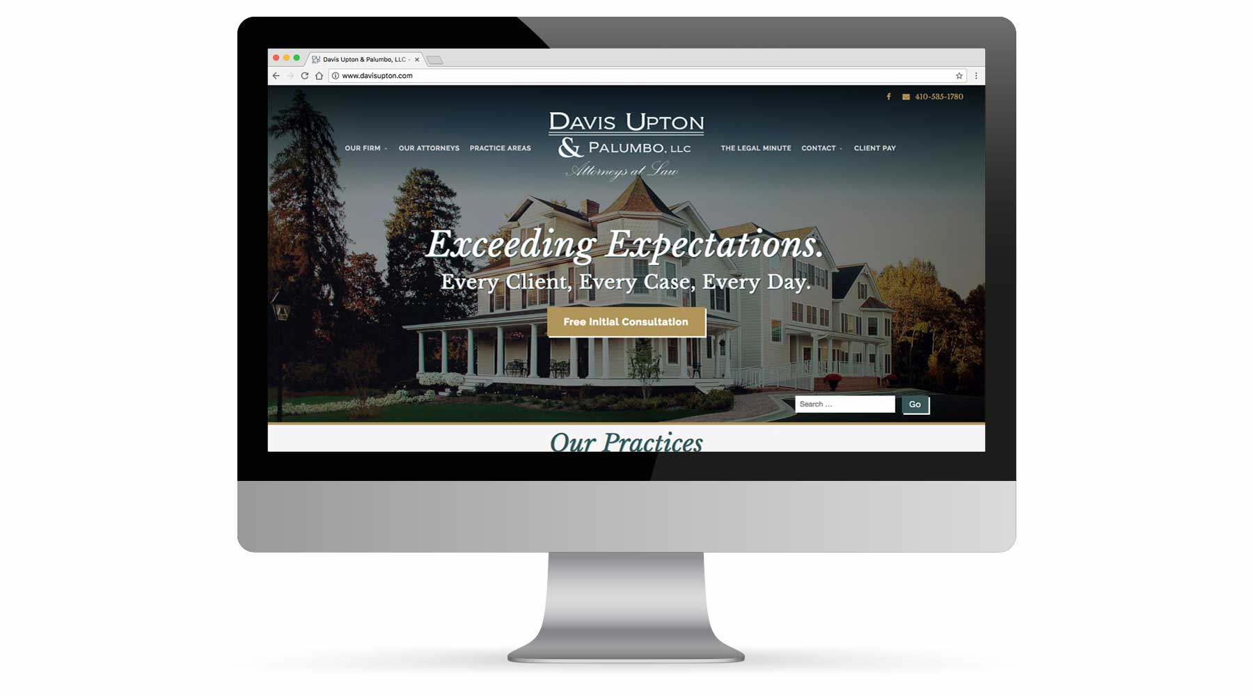 Davis, Upton, & Palumbo Website Portfolio
