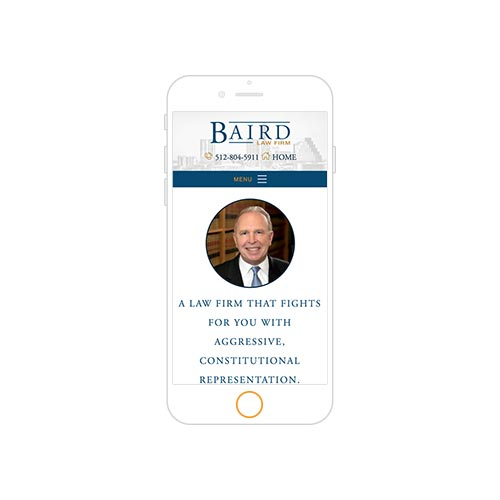 Baird Law Firm Responsive Portfolio