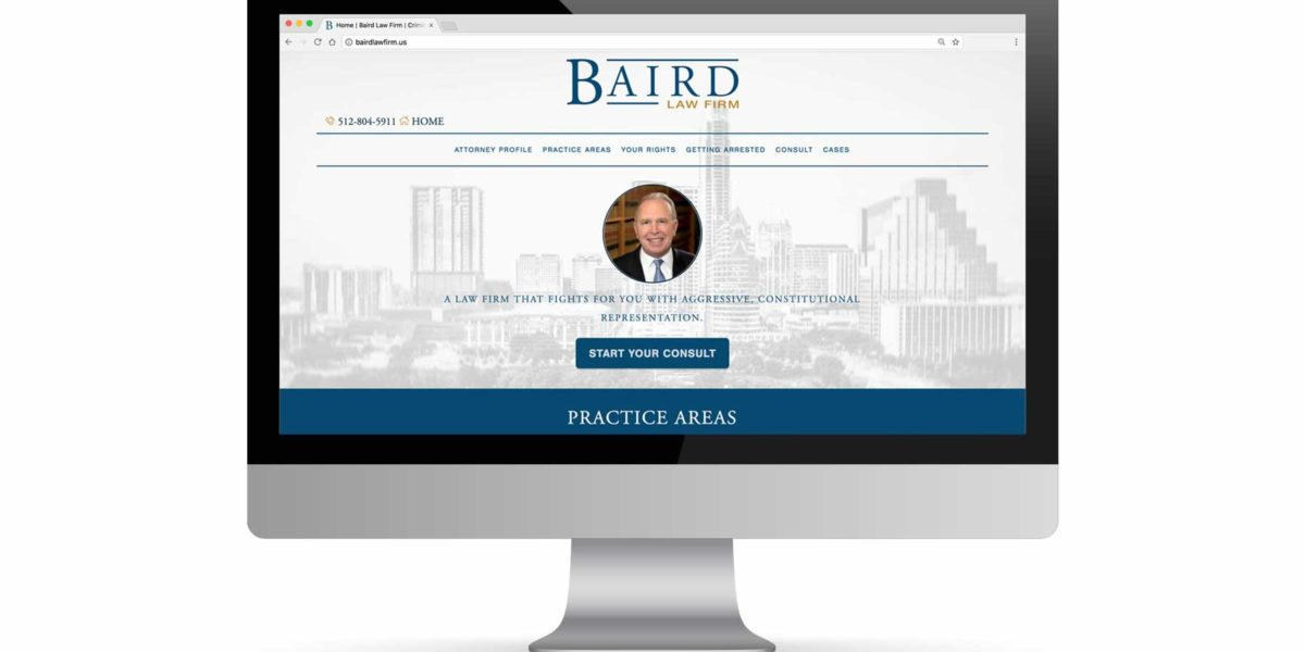 Baird Law Firm Website Portfolio