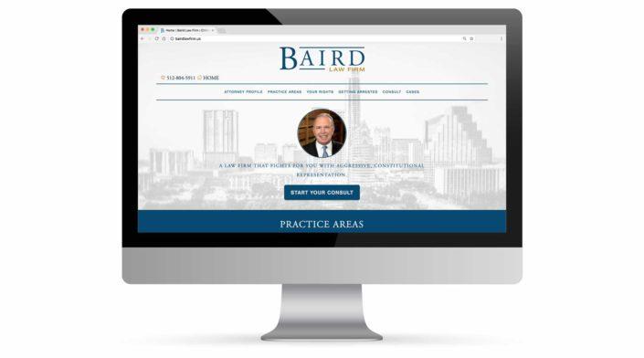 Baird Law Firm Website Portfolio