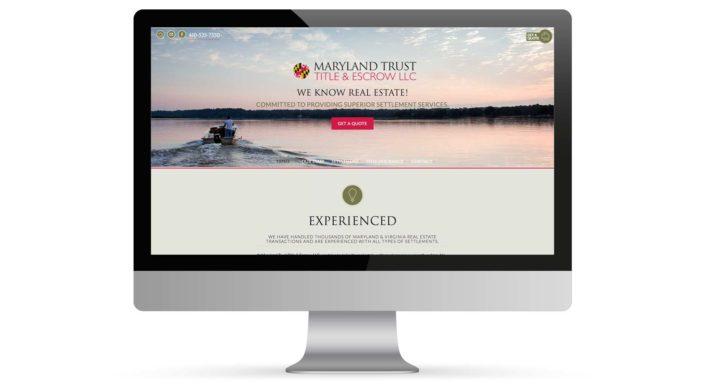 Maryland Trust Title Escrow Website Portfolio