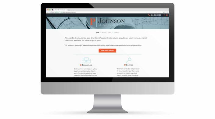 P Johnson Construction Website Portfolio