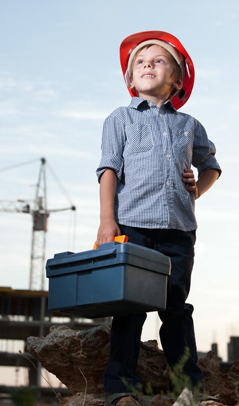 Kid with a Toolbox